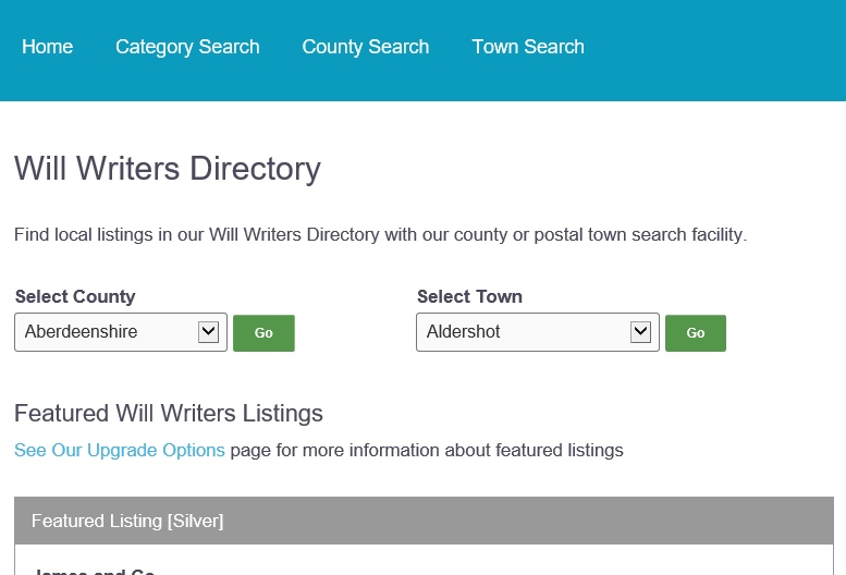 Will Writers Directory Will Writers Providing a Local Will Writing Service
