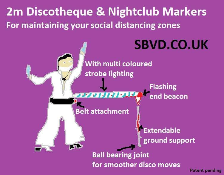 Social Distancing nightclub marker